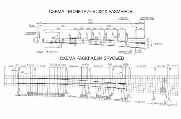Стрелочный перевод Р-65 111 пр.2768, 1740