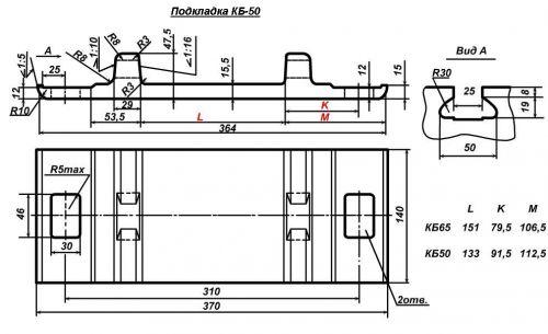 Подкладка КБ-50