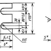Общий чертеж упорных планок для узлов крепления крановых рельс
